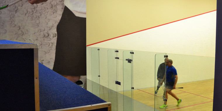 Zone Fitness Bellville features a squash court