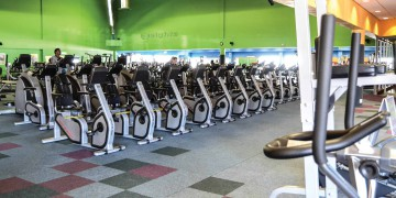 The indoor cycling area at Zone Brackenfell