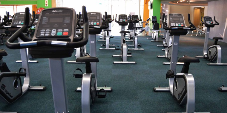 The indoor cycling area at Zone Bruma