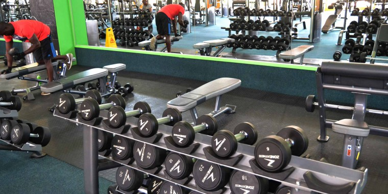 The weights area at Zone Bruma