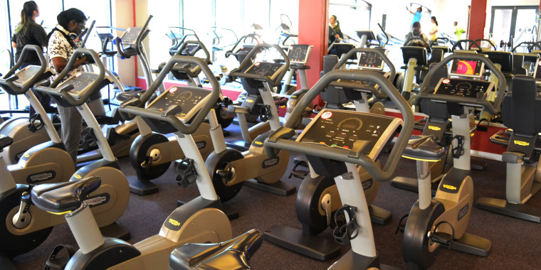 Enjoy our state-of-the art indoor cycling facilities, pictured here at Zone Fitness Cape Quarter
