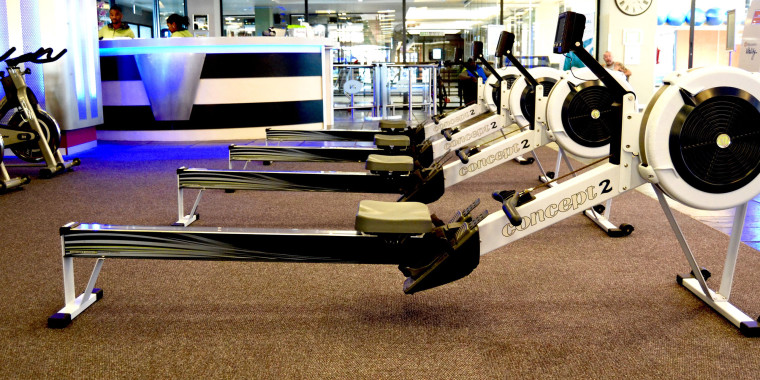 Indoor rowing machines at Zone Cape Quarter