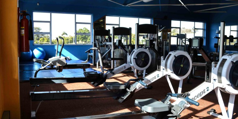 Indoor rowing machines at Zone Durbanville