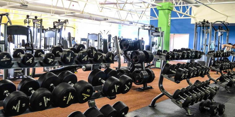 The weights area at Zone Durbanville