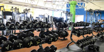 Weight training is simple with our fully-equipped, spacious training areas, pictured here at Zone Fitness Durbanville
