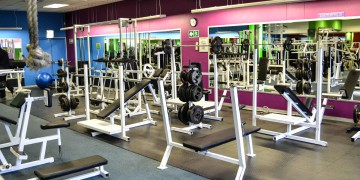 The bright and airy weights section at Zone Fish Hoek