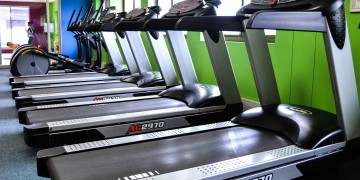 The treadmill section at Zone on the Square