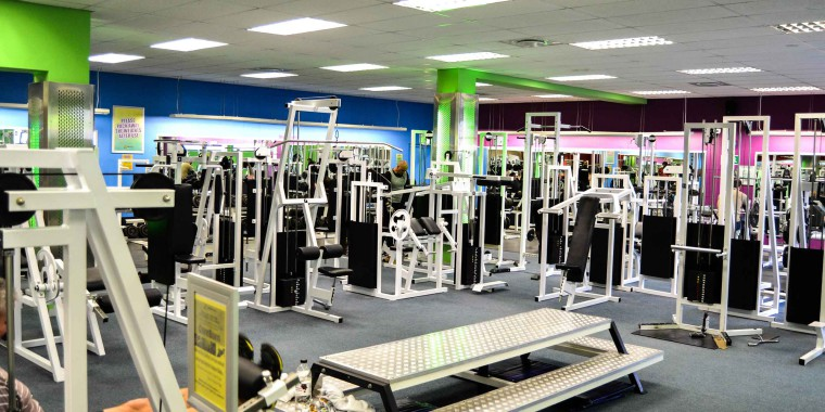 The fully equipped weights area at Zone Fish on the Square