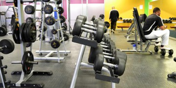 The weights area at Zone Lenasia