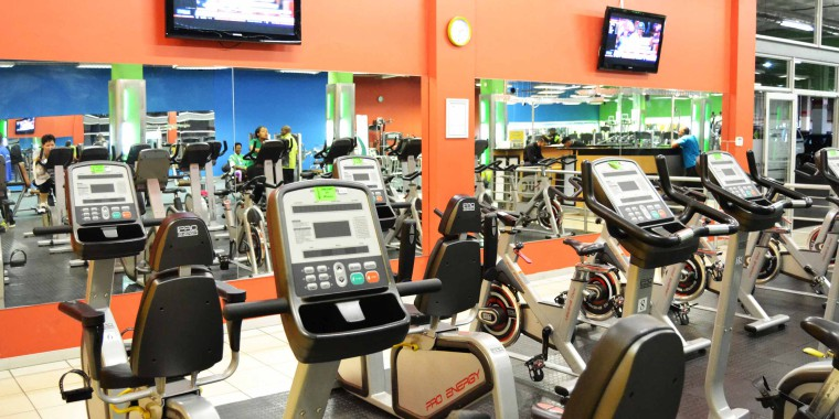 The indoor cycling area at Zone Lenasia