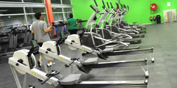 Indoor rowing machines at Zone Lenasia