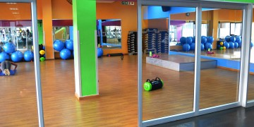 The bright and airy aerobics studio at Zone Life Centre