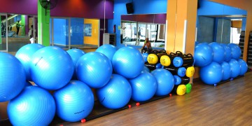Aerobics equipment at Zone Life Centre