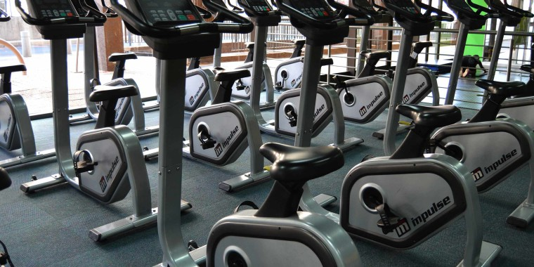 Indoor cycling at Zone Life Centre