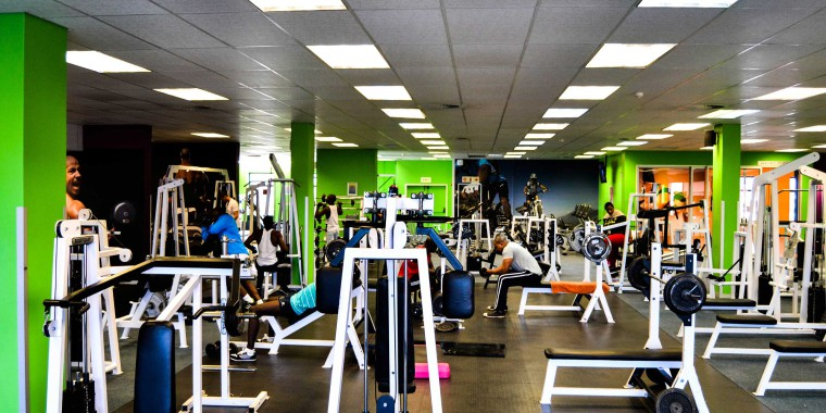 Weight training at Zone Milnerton