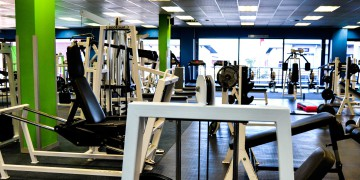 The weights area at Zone Milnerton