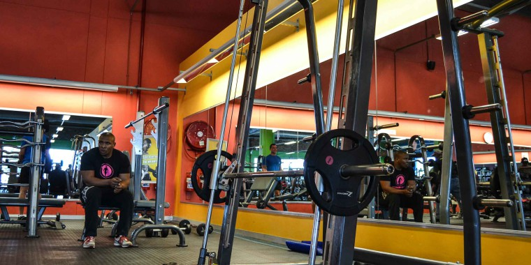 The weights area at Zone Mitchell's Plain