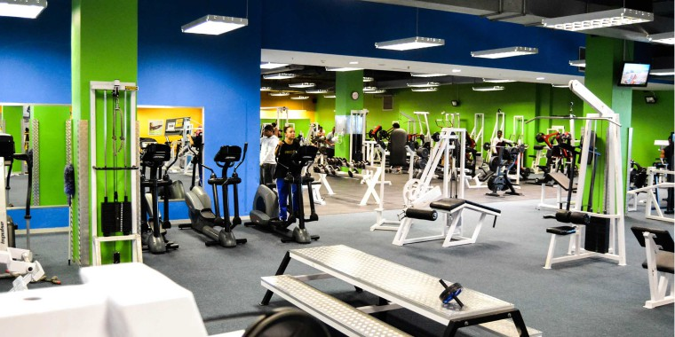 Our weights areas, pictured here at Zone Parow, are state-of-the-art and spacious