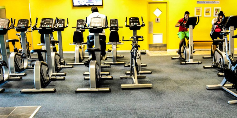 Indoor cycling at Zone Parow