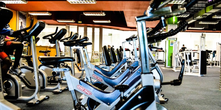 The indoor cycling area at Zone Parow