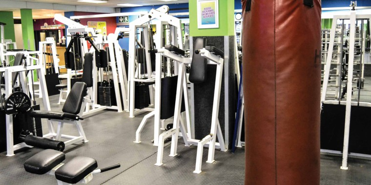 The weights area at Zone Rondebosch
