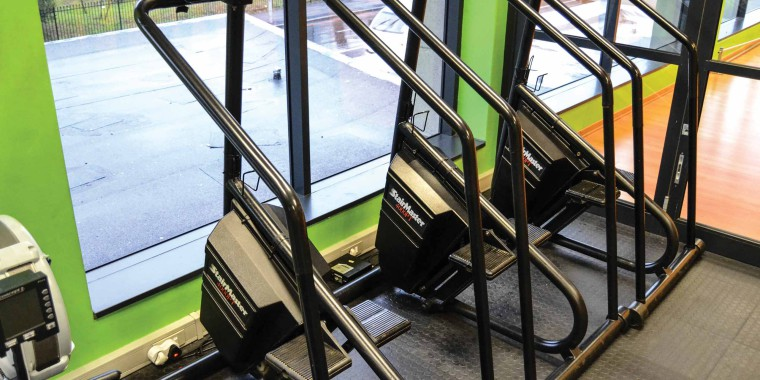 Enjoy a view of bustling Rondebosch while you train on the treadmill