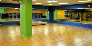 The aerobics studio at Zone St Georges Mall