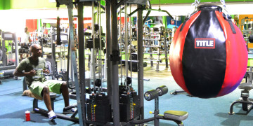 The weights and bench area at Zone Fitness Sancardia