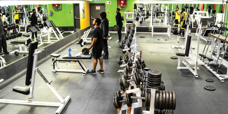 The weight training area at Zone Fitness Wynberg