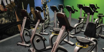 The indoor cycling area at Zone Fitness Wynberg