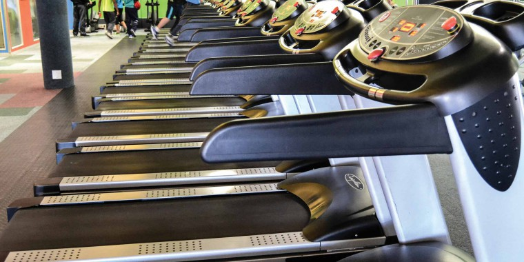 Our state-of-the-art treadmill areas, pictured here at Zone Brackenfell