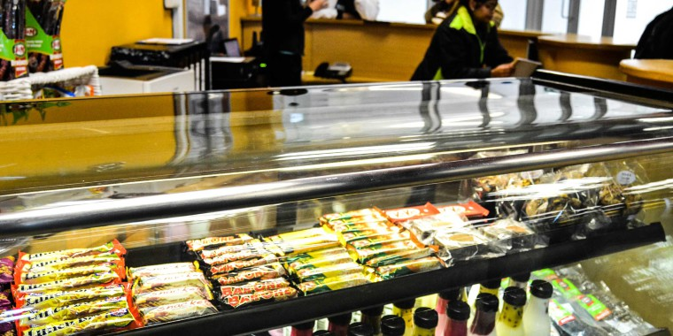 Enjoy a post-workout snack at our cafeterias or restaurants in selected clubs, pictured here at Zone Parow