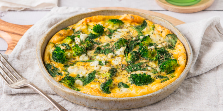 Zone Fitness Spinach and Feta Frittata